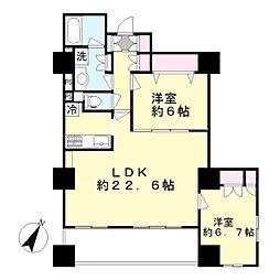 新百合ヶ丘パークハウス4番街[5階]の間取り