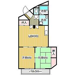 愛知県名古屋市中川区上脇町2丁目の賃貸マンションの間取り