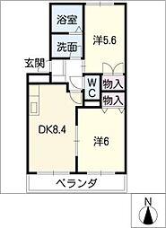 メゾングランディール[2階]の間取り