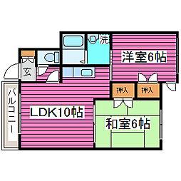 北海道札幌市東区北四十条東5丁目の賃貸アパートの間取り