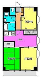 神奈川県相模原市中央区千代田5丁目の賃貸マンションの間取り
