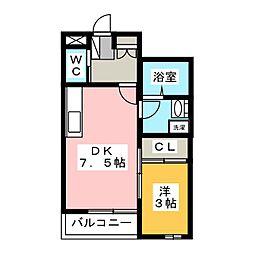 ヴィラージュ八斗島[1階]の間取り