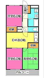 所沢メゾン2号館[2階]の間取り