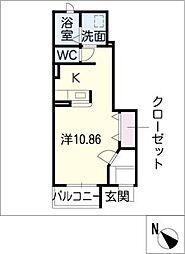 ソレアードI C棟[1階]の間取り
