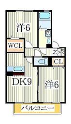 サンパティーク[2階]の間取り