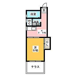 マンション植田[1階]の間取り