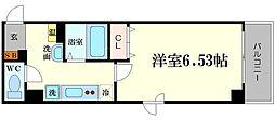 ラフォンテ恵美須[9階]の間取り