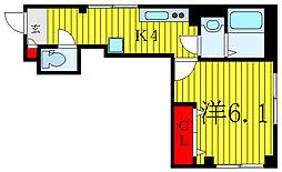 JR山手線 巣鴨駅 徒歩13分の賃貸マンション 3階1Kの間取り