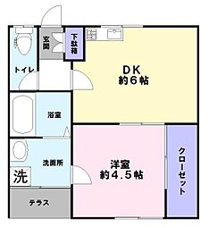ドミール石井[1階]の間取り
