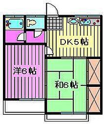 清宮ハイツ[105号室]の間取り