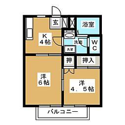メゾニティーTAKA B[2階]の間取り