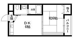 兵庫県西宮市前浜町の賃貸アパートの間取り