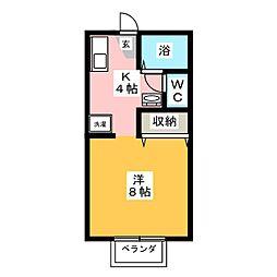コーポラスYOU B棟[1階]の間取り