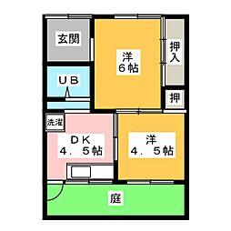 [一戸建] 愛知県春日井市勝川町5丁目 の賃貸【/】の間取り