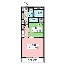 高砂ハイツ高崎東口[1階]の間取り