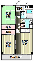 サンライクテイリス2号館[3階]の間取り