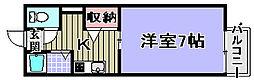 ベルドミール久米田[103号室]の間取り