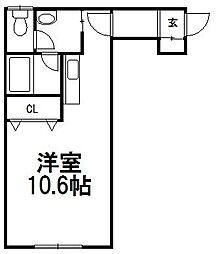 クラージュI[103号室]の間取り