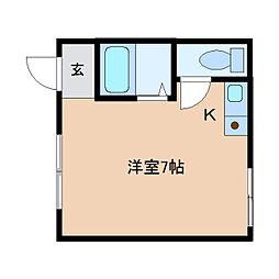 奈良県奈良市紀寺町の賃貸アパートの間取り