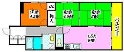 ヌベル・ミズノ 106号室[1階]の間取り