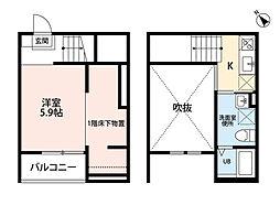 the prime 宮脇[102号室]の間取り