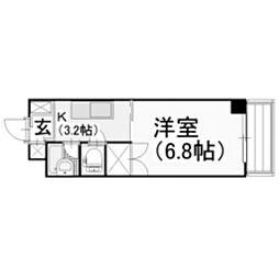 パークアベニュー伊島[2階]の間取り