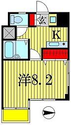日創・北小金マンション[5階]の間取り