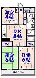 日商岩井中山マンション[210号室]の間取り