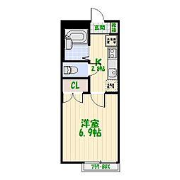 サンフラワー[2階]の間取り