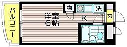 ピアクレスト仙川[106号室]の間取り