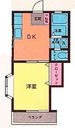 リバーサイド多摩2[203号室]の間取り