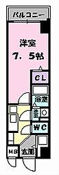 大阪府大阪市平野区加美北8丁目の賃貸マンションの間取り