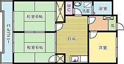 香仙マンション[406号室]の間取り