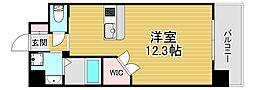 PHOENIX Clove Tomoi 5階ワンルームの間取り