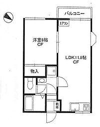 ファミーユハウスA[2階]の間取り