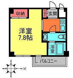 KYビルB[1階]の間取り
