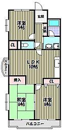 大阪府堺市堺区緑ヶ丘南町4丁の賃貸マンションの間取り