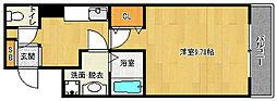 京都府京都市北区小山堀池町の賃貸マンションの間取り