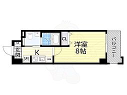 Osaka Metro千日前線 日本橋駅 徒歩6分の賃貸マンション 10階1Kの間取り