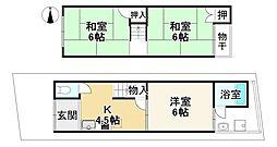 JR山陰本線 太秦駅 徒歩3分 3Kの間取り