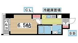 エステムプラザ神戸西IVインフィニティ[408号室]の間取り