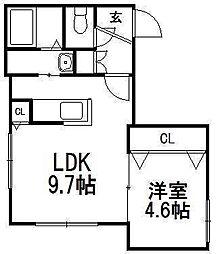 北海道札幌市西区西町南11丁目の賃貸マンションの間取り