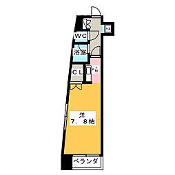 久屋パークサイドハウス[8階]の間取り
