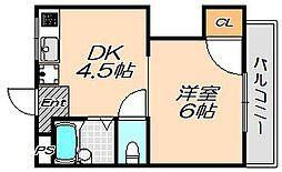 兵庫県神戸市灘区箕岡通3丁目の賃貸マンションの間取り