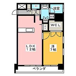 FIRST RESIDENCE SAKAE[13階]の間取り