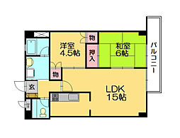 フォレスト柚須駅前[3階]の間取り
