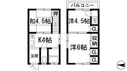[テラスハウス] 大阪府池田市住吉2丁目 の賃貸【/】の間取り