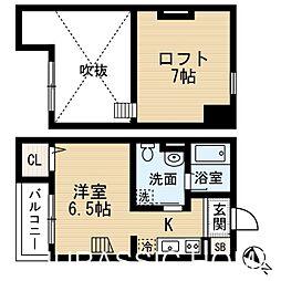 大阪府堺市堺区楠町3丁の賃貸アパートの間取り