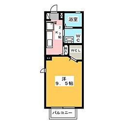 メゾン堤通り[1階]の間取り