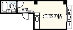 広島県広島市中区十日市町2丁目の賃貸マンションの間取り